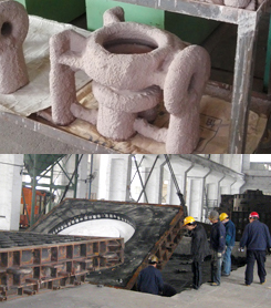Molding or shell making